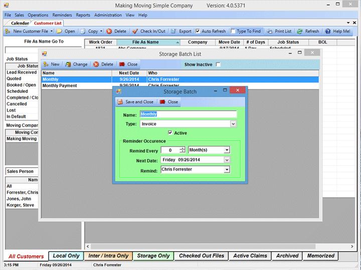 Mr Mover Software LLC - Invoice reminder software